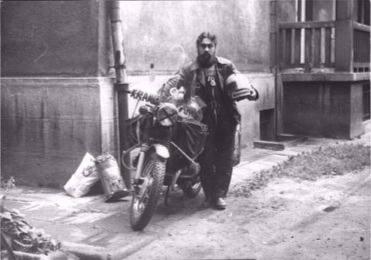 1976 Krakow Poland. Leaving Poland.on my motorcycle.